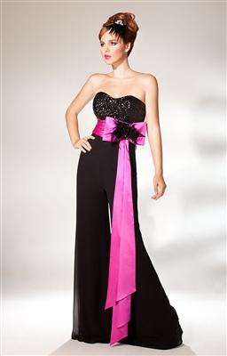 belden-buyuk-kurdeleli-uzun-siyah-tulum-elbise