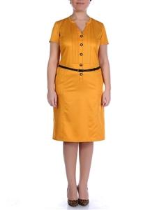 buyuk-beden-hardal-rengi-kisa-kollu-elbise-modeli