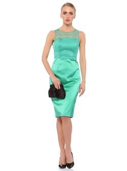 dantel-detayli-kolsuz-diz-ustu-abiye-bayan-yesil-elbise