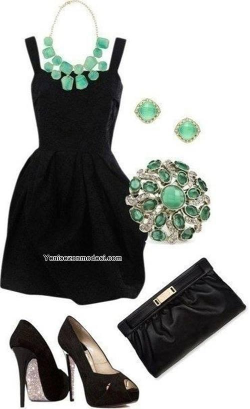 kalin-askili-siyah-elbise-kombini