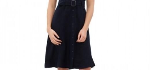 kisa-kollu-keten-onden-dugmeli-kemerli-spor-elbise-Fiyatı 53,90 tl Lcwaikiki marka