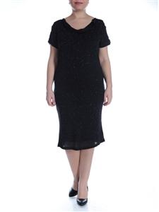 kisa-kollu-simli-siyah-buyuk-beden-bayan-elbiseleri
