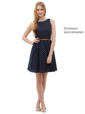 1c10cbe485343 lacivert-beyaz-puanli-kolsuz-kuloj-elbise-modeli – Yeni Sezon Modası