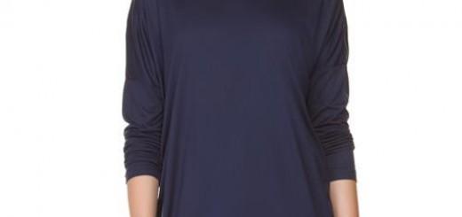 lvwaikiki-lacivert-penye-uzun-kollu-sade-bayan-tunik-modeli