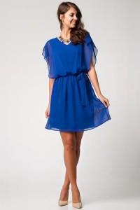 mavi-sifon-belden-kurdeleli-kusakli-v-yaka-elbise