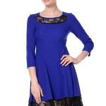 saks-mavisi-diz-ustu-genis-etekldantelli-abiye-bayan-elbise