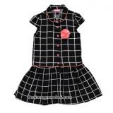 siyah-beyaz-ekose-kareli-onden-dugmeli-kiz-cocuk-elbisesi-yazlik