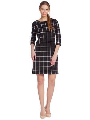 siyah-beyaz-kareli-ekose-kisa-mini-elbise-lcwaikiki