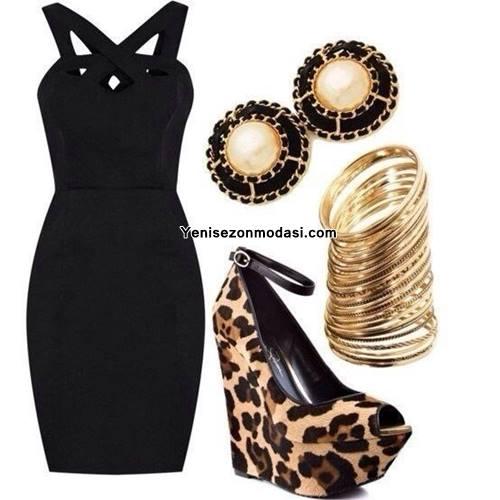 siyah-capraz-askili-elbise-ayakkabi-kombini