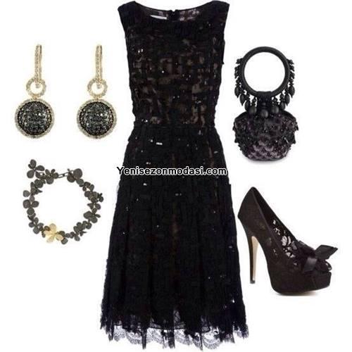 siyah-dantelli-diz-ustu-elbise-kombini