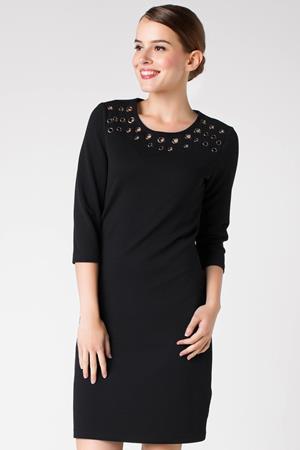 siyah-zimba-detayli-uzun-kollu-elbiseler