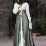uzun-etekl-tesetturlu-a-kesim-belden-kemerli-elbise-Pınar şems-Fiyati-395 TL