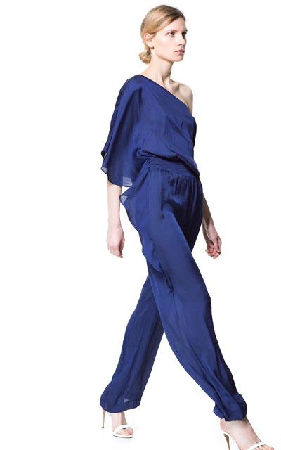 zara-giyim-abiye-mavi-sifon-tek-kollu-tulum-modeli